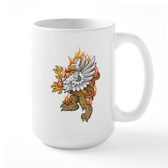 Flaming Gryphon Mug
