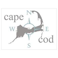 Cape Cod Compass Poster