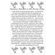 Running a Marathon is Like... Framed Print