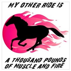 My Other Ride Is A Horse Poster