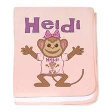 Little Monkey Heidi baby blanket