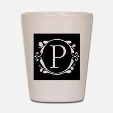 INITIAL P MONOGRAM Shot Glass