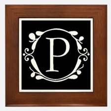 INITIAL P MONOGRAM Framed Tile