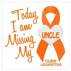 Missing My Uncle 1 LEUKEMIA Framed Print