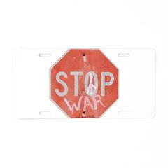 STOP WAR III Aluminum License Plate