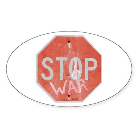 STOP WAR III Sticker (Oval)