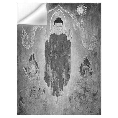 black + white buddhas, suns and devas Wall Decal