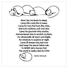 Cat's Prayer Poster