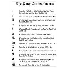 The Pong Commandments Poster
