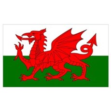 Flag of Wales (Welsh Flag) Poster