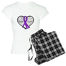 Cystic Fibrosis Heart Ribbon Pajamas