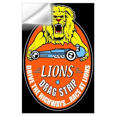 Lions Drag Strip Wall Decal