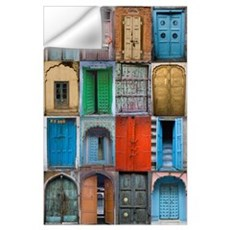 Doors of India Wall Decal