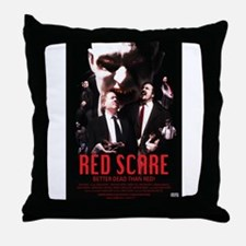Red Scare Poster Throw Pillow