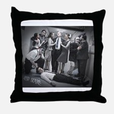Red Scare Group Shot Throw Pillow