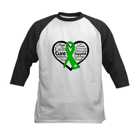 Cerebral Palsy Heart Ribbon Kids Baseball Jersey