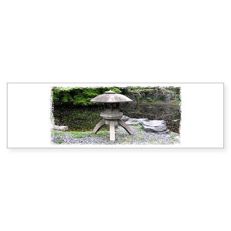 Japanese Stone Lantern Bumper Sticker