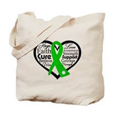 Cerebral Palsy Heart Ribbon Tote Bag