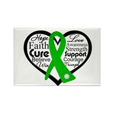 Cerebral Palsy Heart Ribbon Rectangle Magnet
