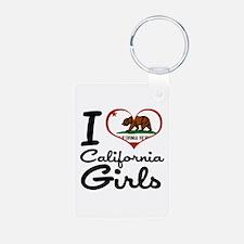 I Love California Girls Keychains