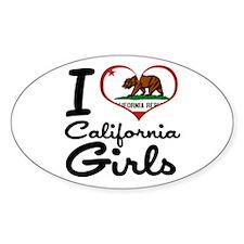 I Love California Girls Decal