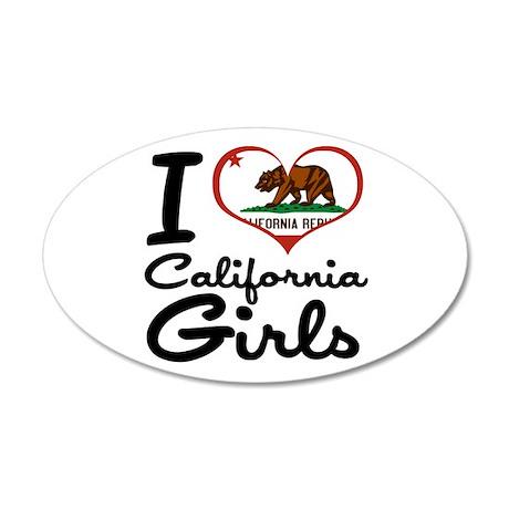 I Love California Girls 38.5 x 24.5 Oval Wall Peel