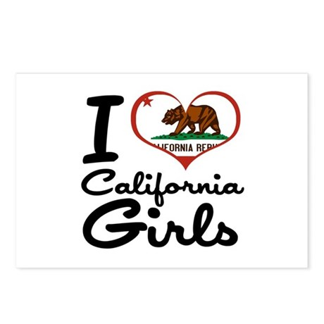 I Love California Girls Postcards (Package of 8)