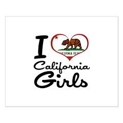 I Love California Girls Posters