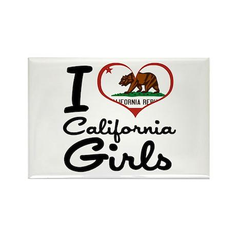 I Love California Girls Rectangle Magnet