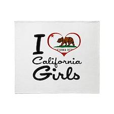 I Love California Girls Throw Blanket