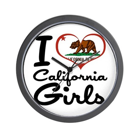 I Love California Girls Wall Clock