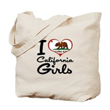 I Love California Girls Tote Bag