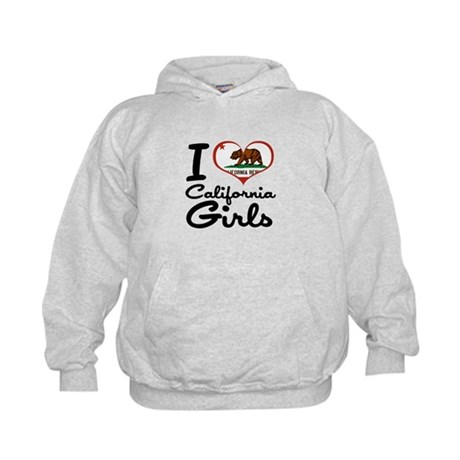 I Love California Girls Kids Hoodie