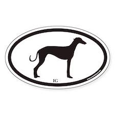Italian Greyhound IG Euro Oval Decal