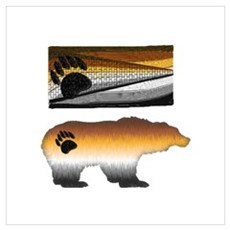 VARIATED BEAR PRIDE FLAG/BEAR Poster