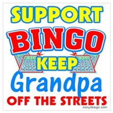 Support Bingo Grandpa Framed Print
