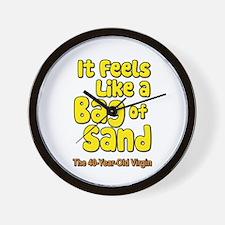It Feels Like A Bag of Sand Wall Clock