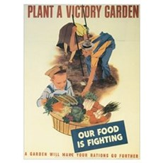 Plant A Victory Garden Framed Print