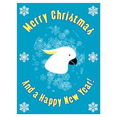 Christmas Cockatoo Poster