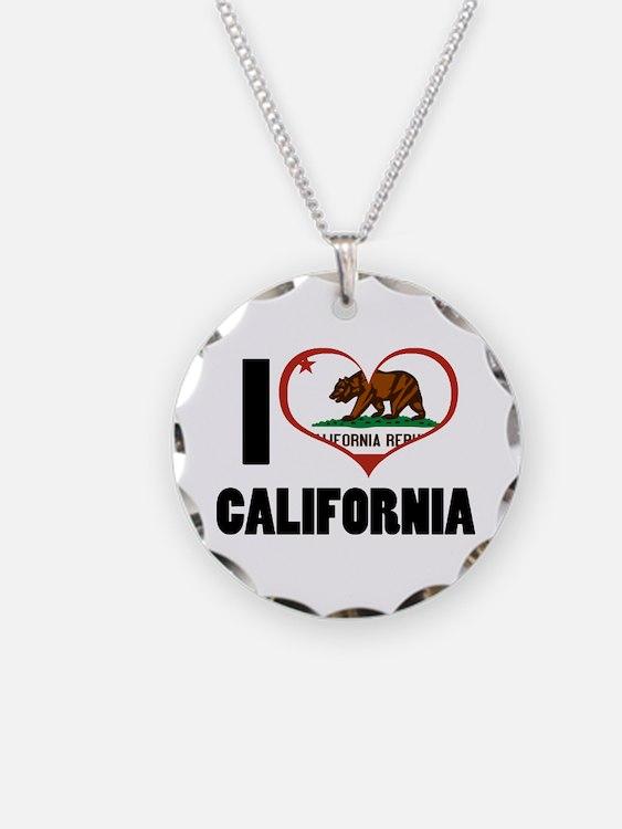 I Love California Necklace