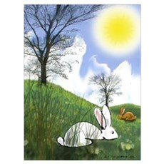Bunnies in the Sun Poster