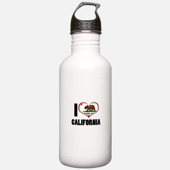 I Love California Water Bottle