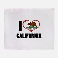 I Love California Throw Blanket
