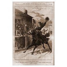 Belle Starr Skipping Bail on Horseback Poster