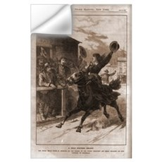 Belle Starr Skipping Bail on Horseback Wall Decal