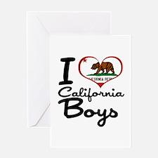 I Love California Boys Greeting Card