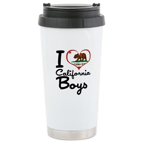 I Love California Boys Stainless Steel Travel Mug