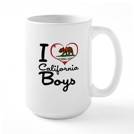 I Love California Boys Large Mug