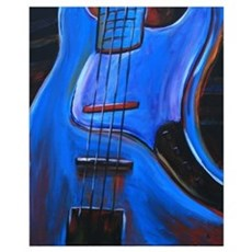Electric Blue Bass Art Canvas Art