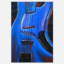Electric Blue Bass Art